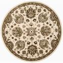 Nourison Jaipur 6' x 6' Ivory Round Rug - Item Number: JA47 IV 6X6