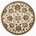 Nourison Jaipur 8' x 8' Ivory Round Rug - Item Number: JA47 IV 8X8