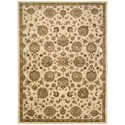 "Nourison Jaipur 9'6"" x 13'6"" Ivory Rectangle Rug - Item Number: JA47 IV 96X136"
