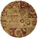 Nourison Jaipur 6' x 6' Multicolor Round Rug - Item Number: JA48 MTC 6X6