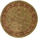 Nourison Jaipur 6' x 6' Olive Round Rug - Item Number: JA50 OLI 6X6