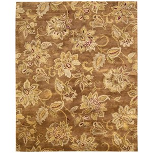 "Nourison Jaipur 3'9"" x 5'9"" Bronze Rectangle Rug"