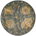 Nourison Jaipur 6' x 6' Denim Round Rug - Item Number: JA52 DEN 6X6