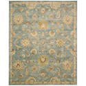"Nourison Jaipur 5'6"" x 8'6"" Light Blue Rectangle Rug - Item Number: JA53 LTB 56X86"