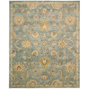 "Nourison Jaipur 8'3"" x 11'6"" Light Blue Rectangle Rug"