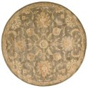Nourison Jaipur 6' x 6' Mushroom Round Rug - Item Number: JA53 MSH 6X6