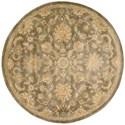 Nourison Jaipur 8' x 8' Mushroom Round Rug - Item Number: JA53 MSH 8X8