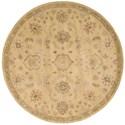 Nourison Jaipur 6' x 6' Light Gold Round Rug - Item Number: JA54 LGD 6X6