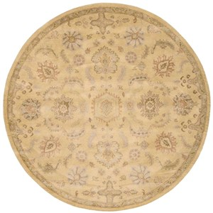 Nourison Jaipur 8' x 8' Light Gold Round Rug