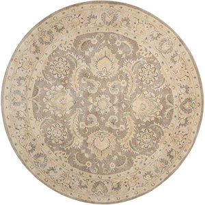 6' x 6' Taupe Round Rug