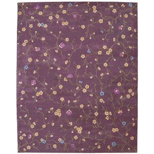 "Nourison Julian 7'6"" x 9'6"" Lavender Rectangle Rug"
