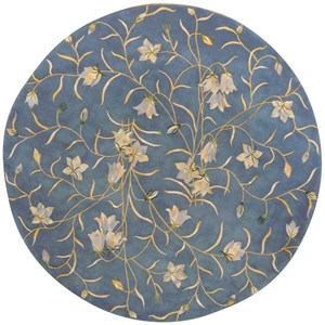 Nourison Julian 8' x 8' Light Blue Round Rug