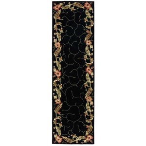 "Nourison Julian 2'3"" x 8' Black Runner Rug"