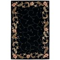 "Nourison Julian 3'6"" x 5'6"" Black Rectangle Rug - Item Number: JL46 BLK 36X56"