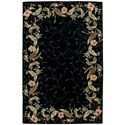 "Nourison Julian 5'3"" x 8'3"" Black Rectangle Rug - Item Number: JL46 BLK 53X83"