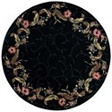 Nourison Julian 6' x 6' Black Round Rug - Item Number: JL46 BLK 6X6