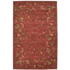 "Nourison Julian 5'3"" x 8'3"" Persimmon Rectangle Rug"