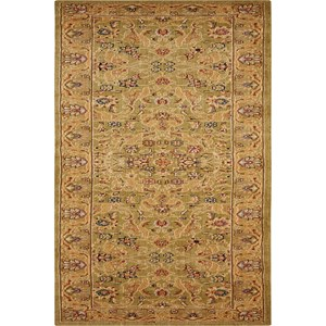 "Nourison Kathy Ireland Home presents Lumiere 2'3"" x 7'9"" Sage Area Rug"
