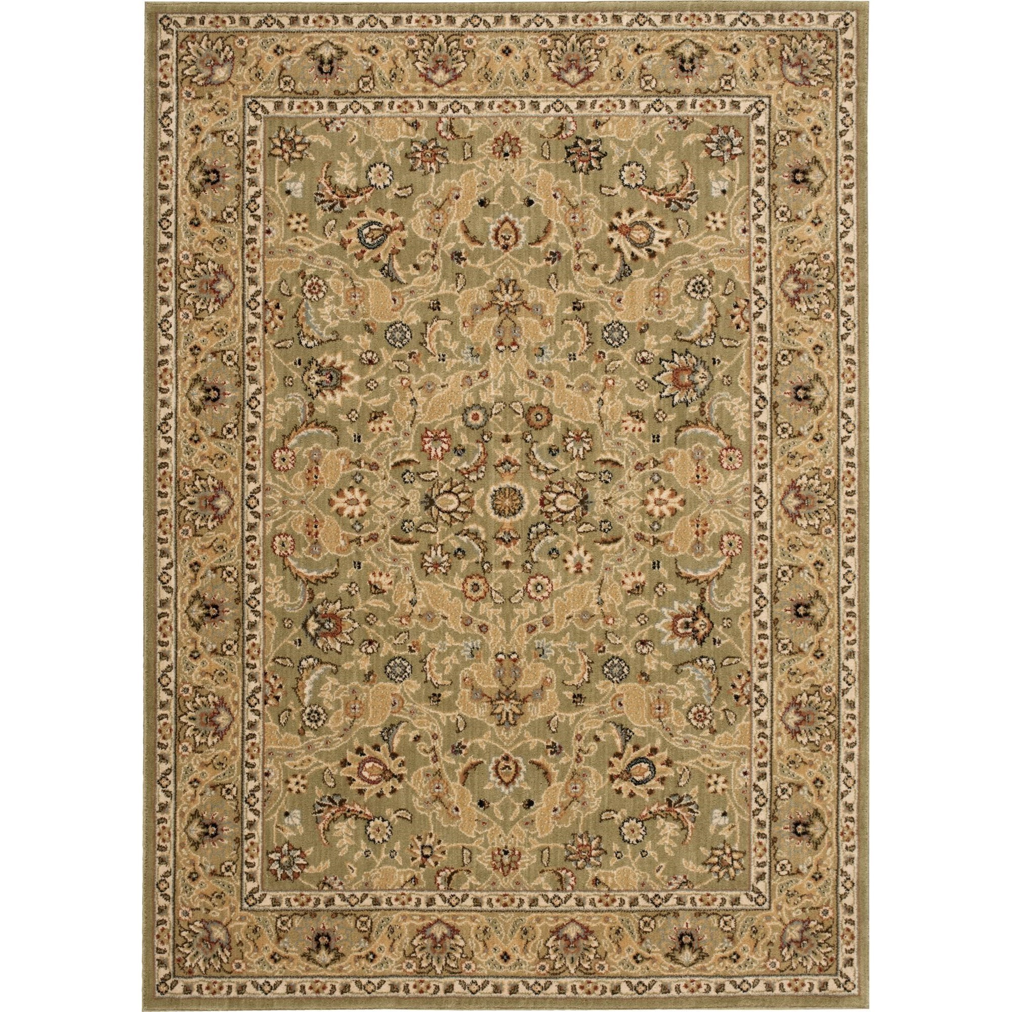 "Nourison Kathy Ireland Home presents Lumiere 3'6"" x 5'6"" Sage Area Rug - Item Number: 03557"