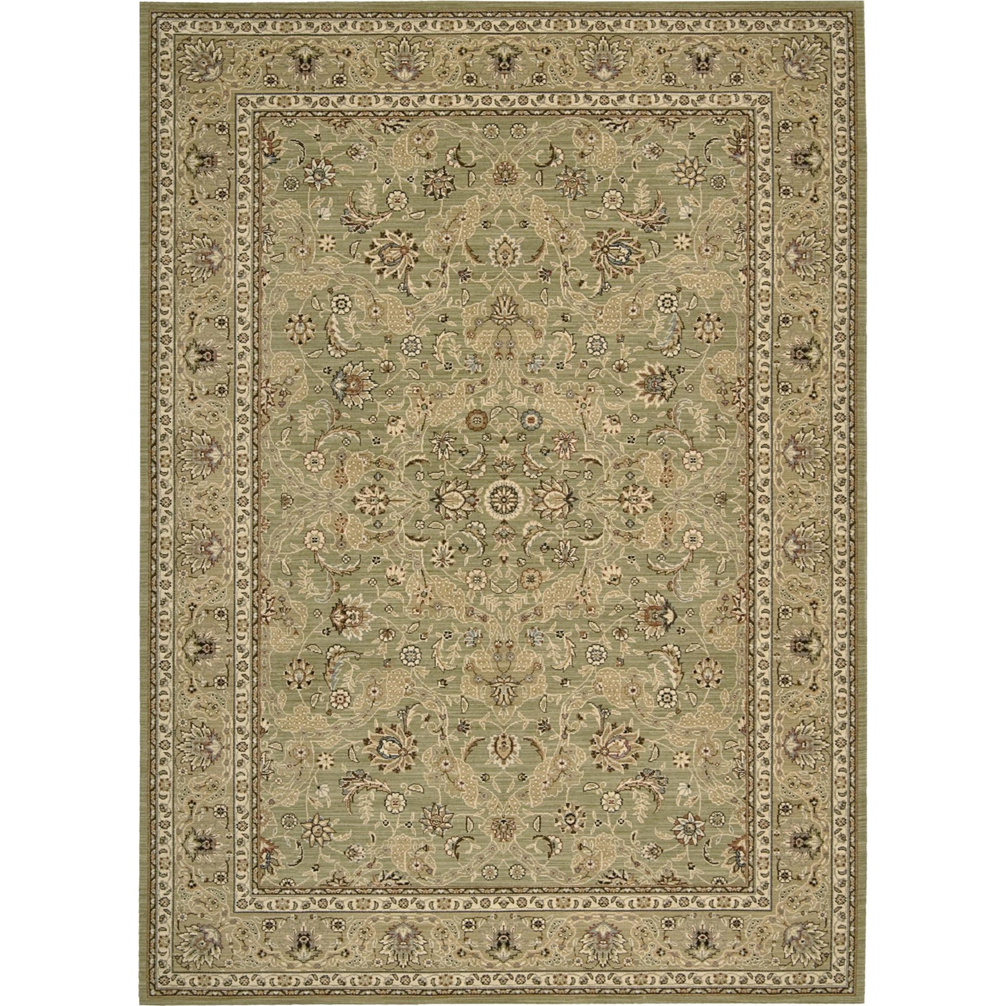 "Nourison Kathy Ireland Home presents Lumiere 7'9"" x 10'10"" Sage Area Rug - Item Number: 03563"
