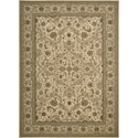 "Nourison Kathy Ireland Home presents Lumiere 7'9"" x 10'10"" Beige Area Rug - Item Number: 03719"