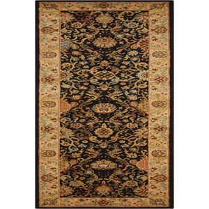 "Nourison Kathy Ireland Home presents Lumiere 2'3"" x 7'9"" Onyx Area Rug"