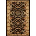 """Nourison Kathy Ireland Home presents Lumiere 2'3"""" x 7'9"""" Onyx Area Rug - Item Number: 04351"""