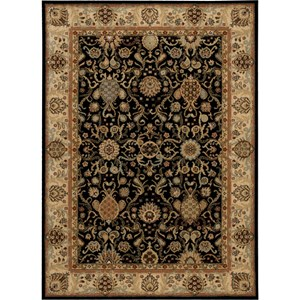"Nourison Kathy Ireland Home presents Lumiere 5'3"" x 7'5"" Onyx Area Rug"