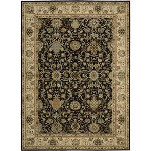 "Nourison Kathy Ireland Home presents Lumiere 7'9"" x 10'10"" Onyx Area Rug"