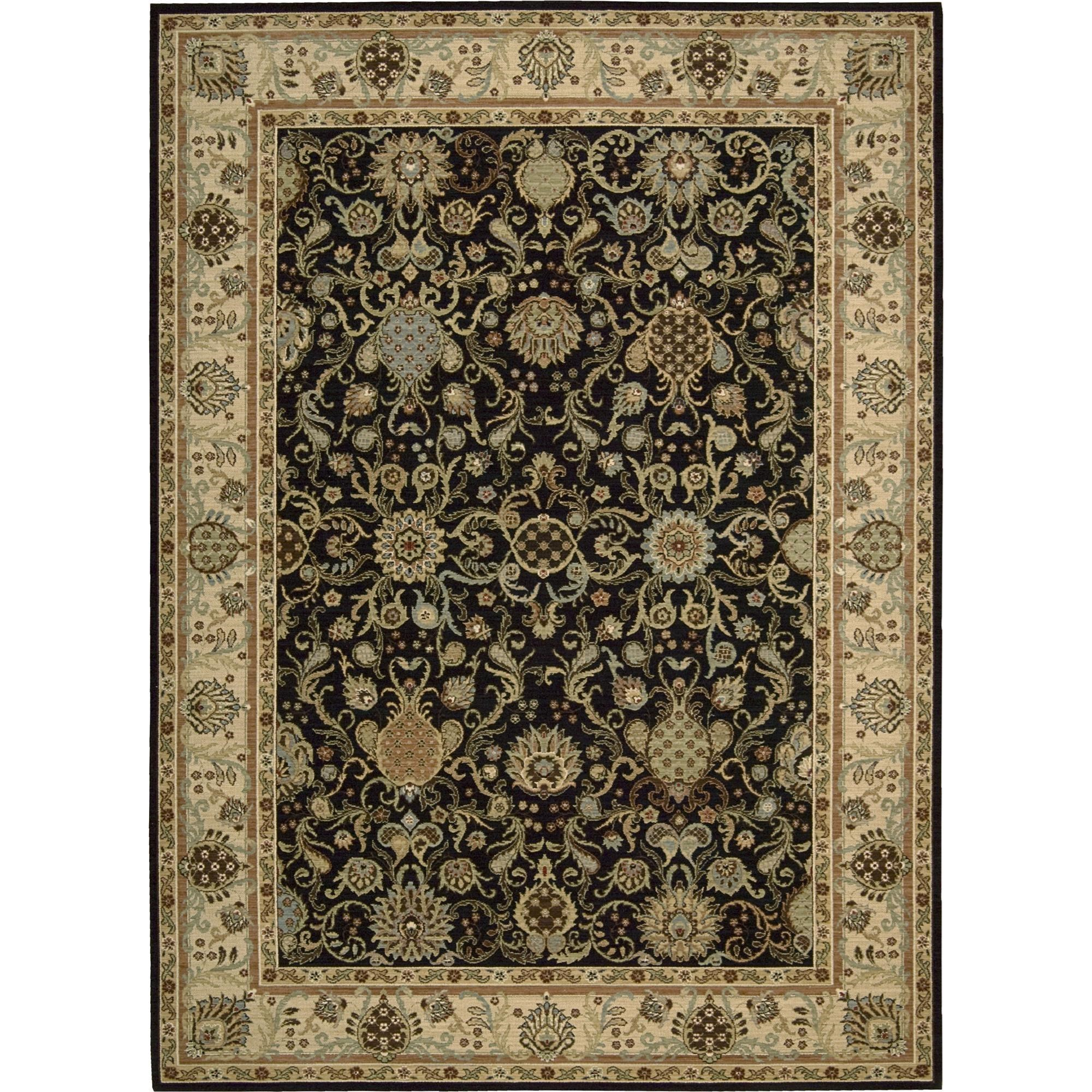 "Nourison Kathy Ireland Home presents Lumiere 9'6"" x 13' Onyx Area Rug - Item Number: 04359"