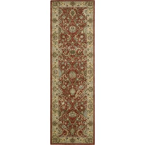 "Nourison Kathy Ireland Home presents Lumiere 2'3"" x 7'9"" Brick Area Rug"