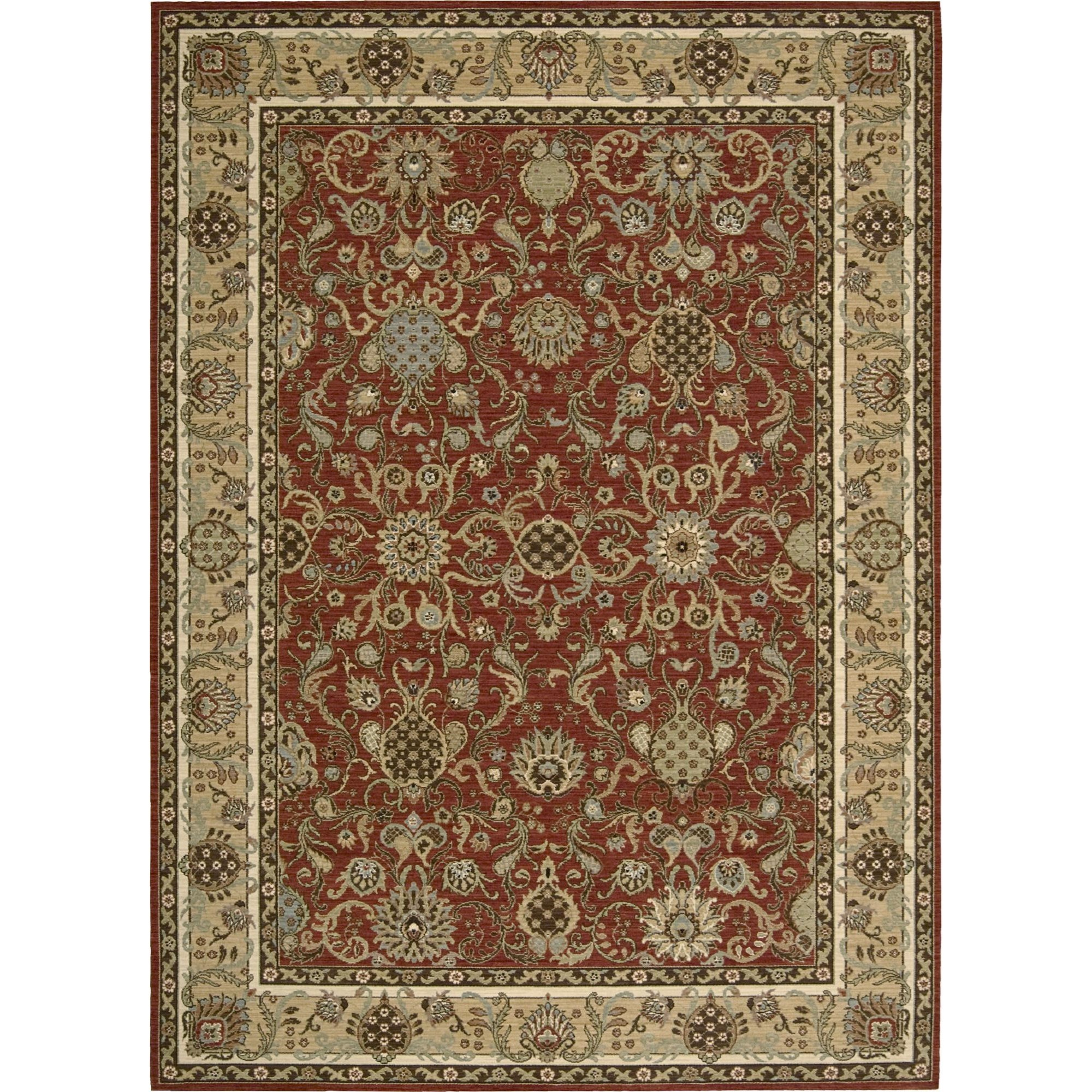 "Nourison Kathy Ireland Home presents Lumiere 3'6"" x 5'6"" Brick Area Rug - Item Number: 04364"