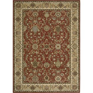 "Nourison Kathy Ireland Home presents Lumiere 5'3"" x 7'5"" Brick Area Rug"