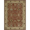 "Nourison Kathy Ireland Home presents Lumiere 5'3"" x 7'5"" Brick Area Rug - Item Number: 04367"