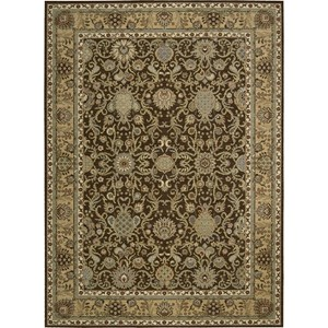 "Nourison Kathy Ireland Home presents Lumiere 9'6"" x 13' Espresso Area Rug"