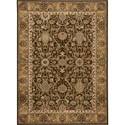 "Nourison Kathy Ireland Home presents Lumiere 5'3"" x 7'5"" Espresso Area Rug - Item Number: 04449"