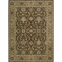 "Nourison Kathy Ireland Home presents Lumiere 3'6"" x 5'6"" Espresso Area Rug - Item Number: 04458"