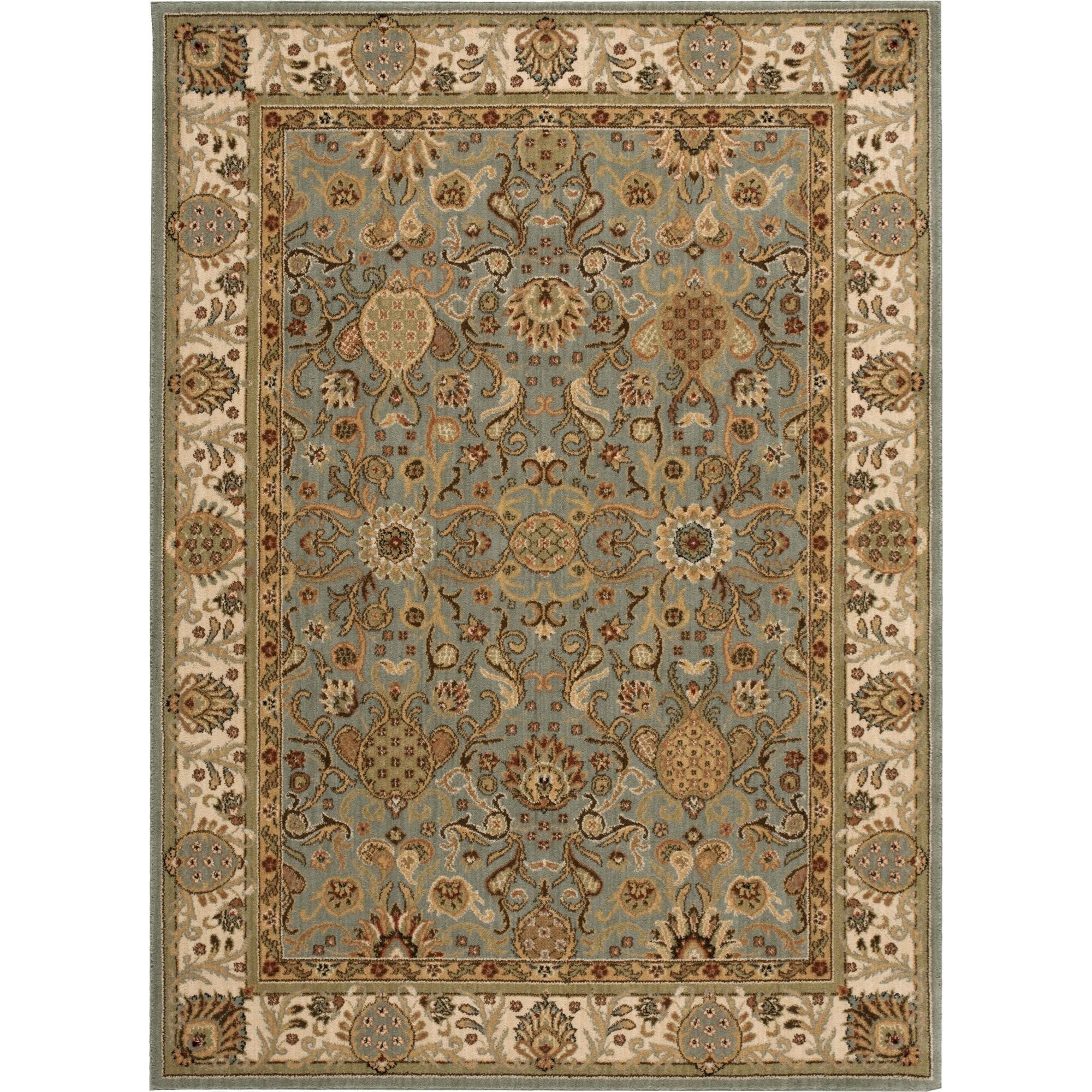 "Nourison Kathy Ireland Home presents Lumiere 3'6"" x 5'6"" Slate Blue Area Rug - Item Number: 05215"