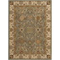 "Nourison Kathy Ireland Home presents Lumiere 5'3"" x 7'5"" Slate Blue Area Rug - Item Number: 05218"