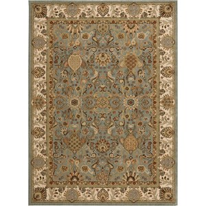 "Nourison Kathy Ireland Home presents Lumiere 9'6"" x 13' Slate Blue Area Rug"