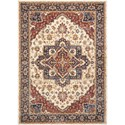 Nourison Lagos 3' X 5' Cream Rug - Item Number: LAG01 CREAM 3X5