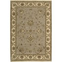 "Nourison Legend 3'9"" x 5'9"" Grey Area Rug - Item Number: 09570"