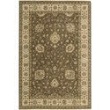"Nourison Legend 5'6"" x 8'6"" Chocolate Area Rug - Item Number: 09624"