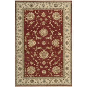 "Nourison Legend 5'6"" x 8'6"" Red Area Rug"