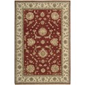 "Nourison Legend 5'6"" x 8'6"" Red Area Rug - Item Number: 09642"