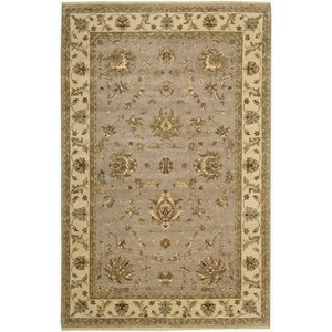 "Nourison Legend 5'6"" x 8'6"" Grey Area Rug"