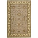 "Nourison Legend 5'6"" x 8'6"" Grey Area Rug - Item Number: 09651"