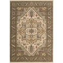 "Nourison Legend 5'6"" x 8'6"" Beige Area Rug - Item Number: 09687"