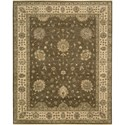 "Nourison Legend 7'9"" x 9'9"" Chocolate Area Rug - Item Number: 09705"