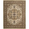 "Nourison Legend 7'9"" x 9'9"" Beige Area Rug - Item Number: 09768"